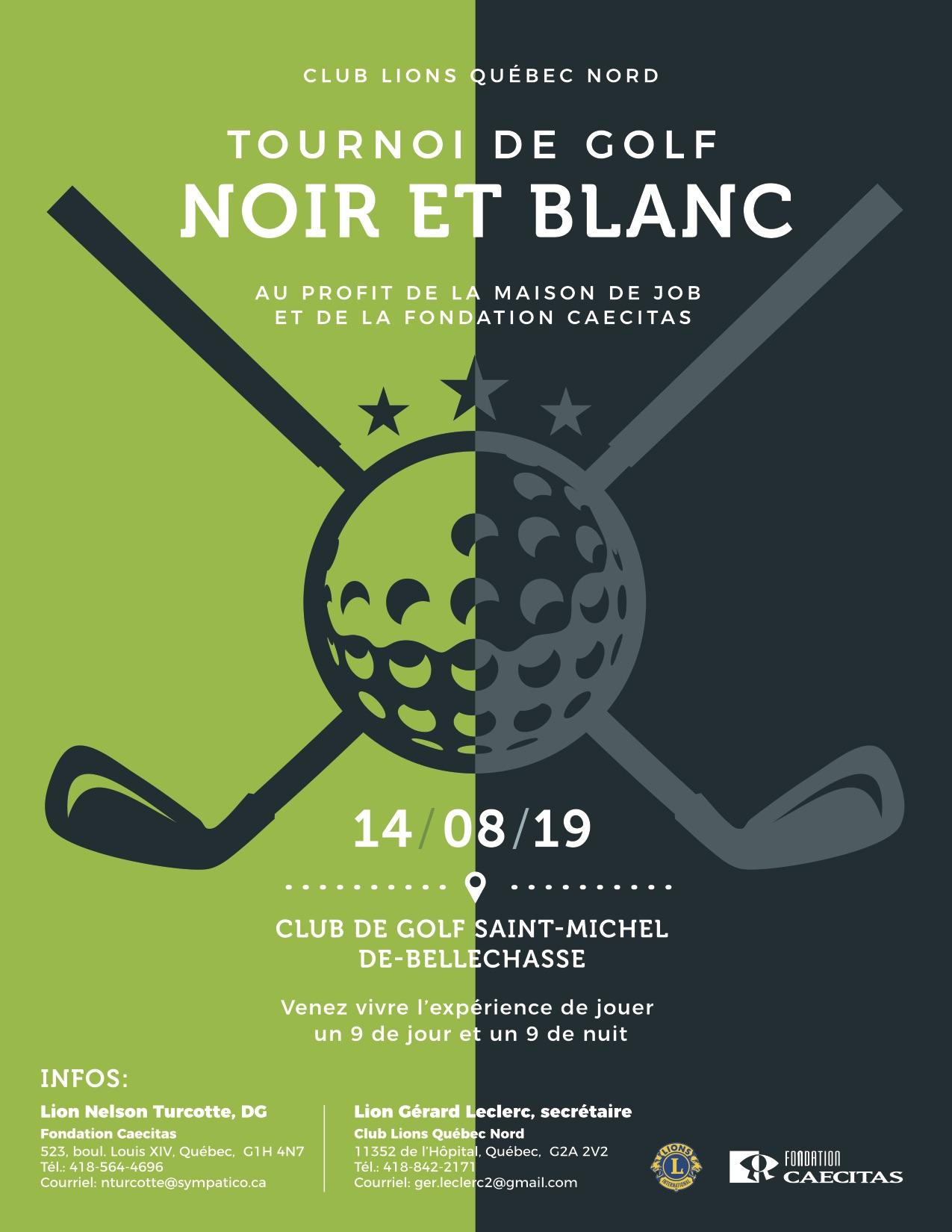 Tournoi de Golf Noir et Blanc